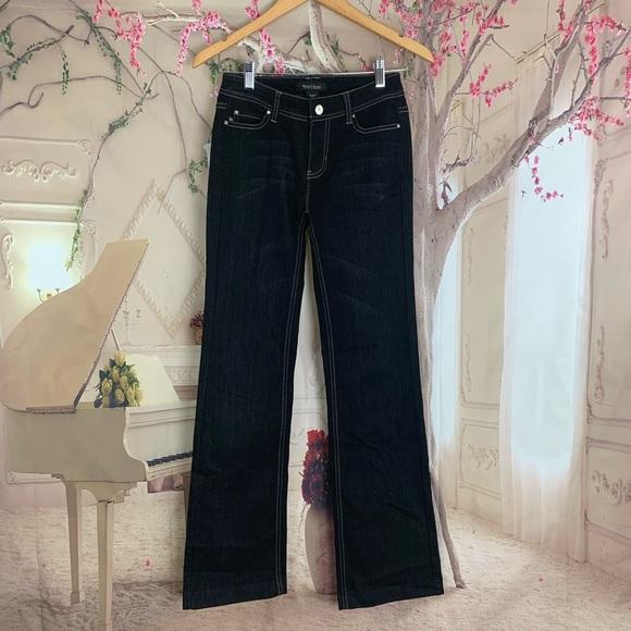 White House Black Market Denim - WHBM Blanc Dark Wash Bootcut Jeans